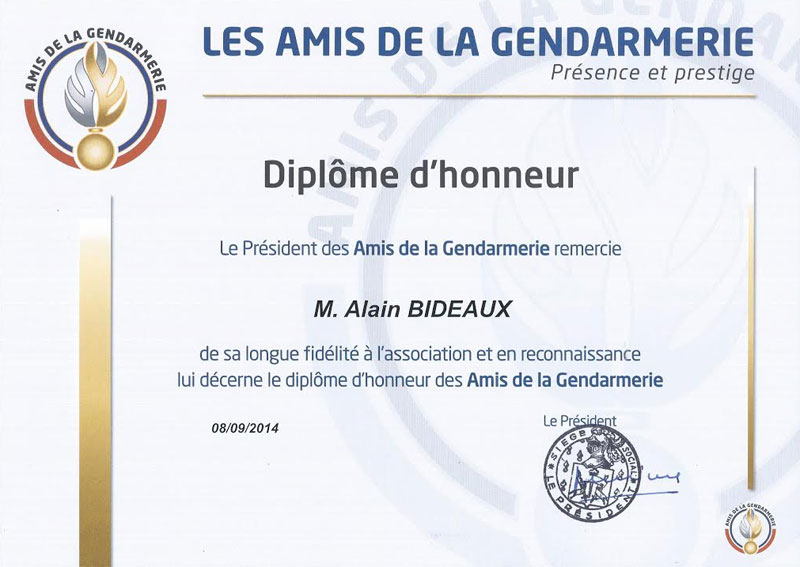 diplome gendarmerie